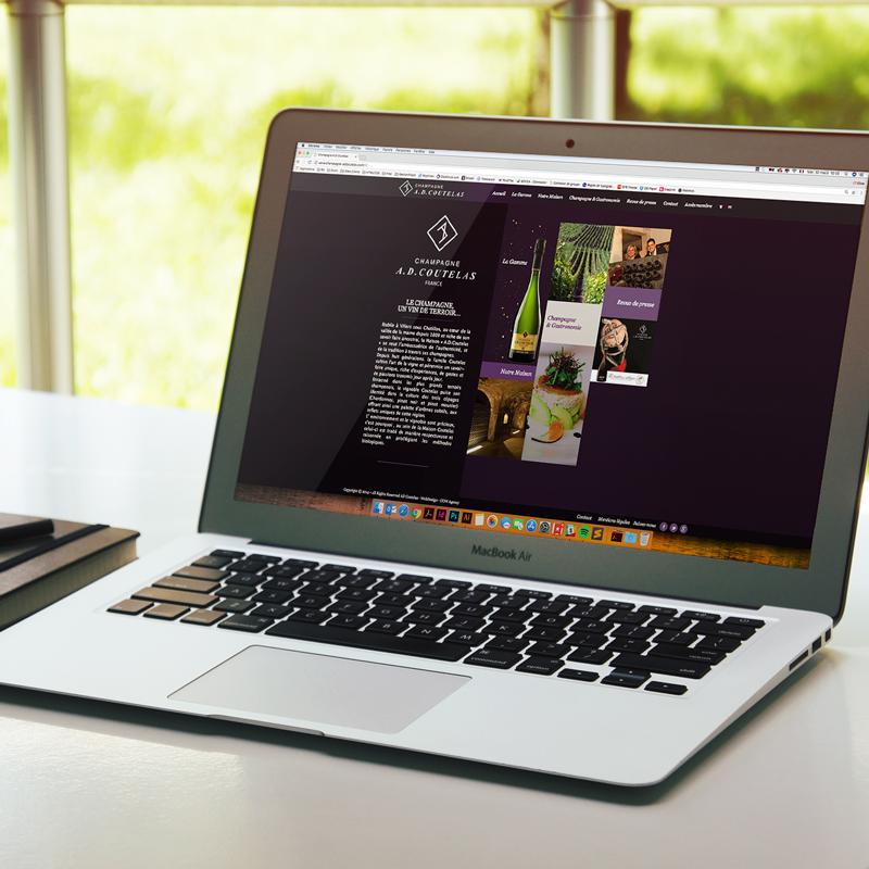 Création site Internet maison de champagne AD COUTELAS - COWAGENCY
