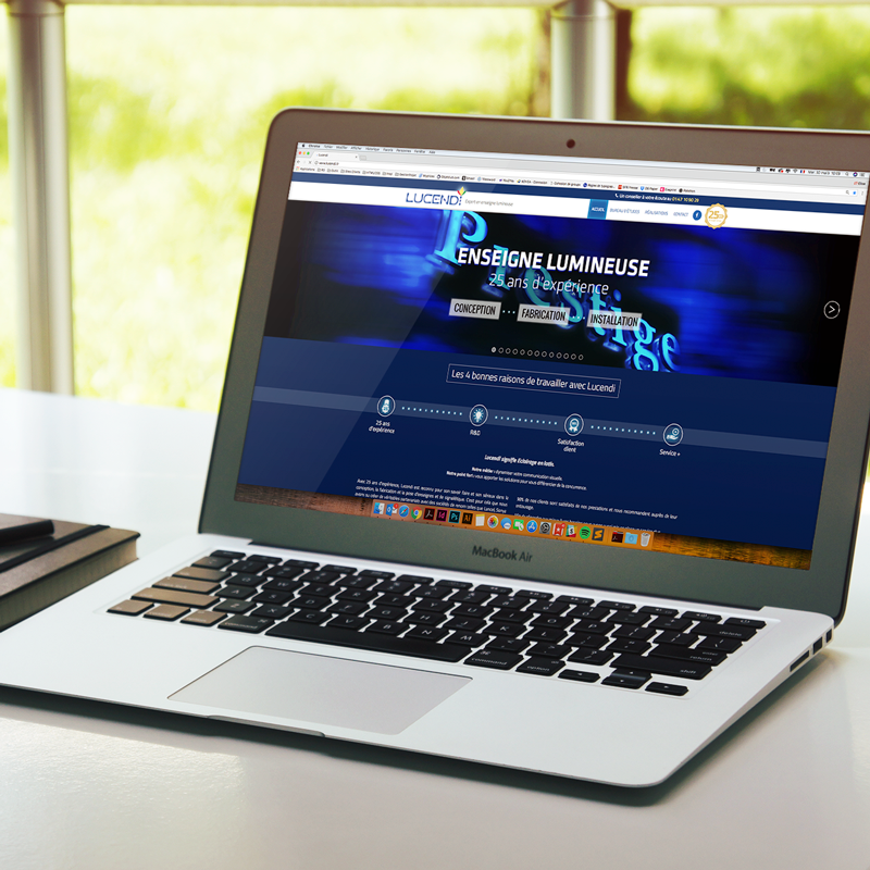 Création Site Internet LUCENDI - COWAGENCY
