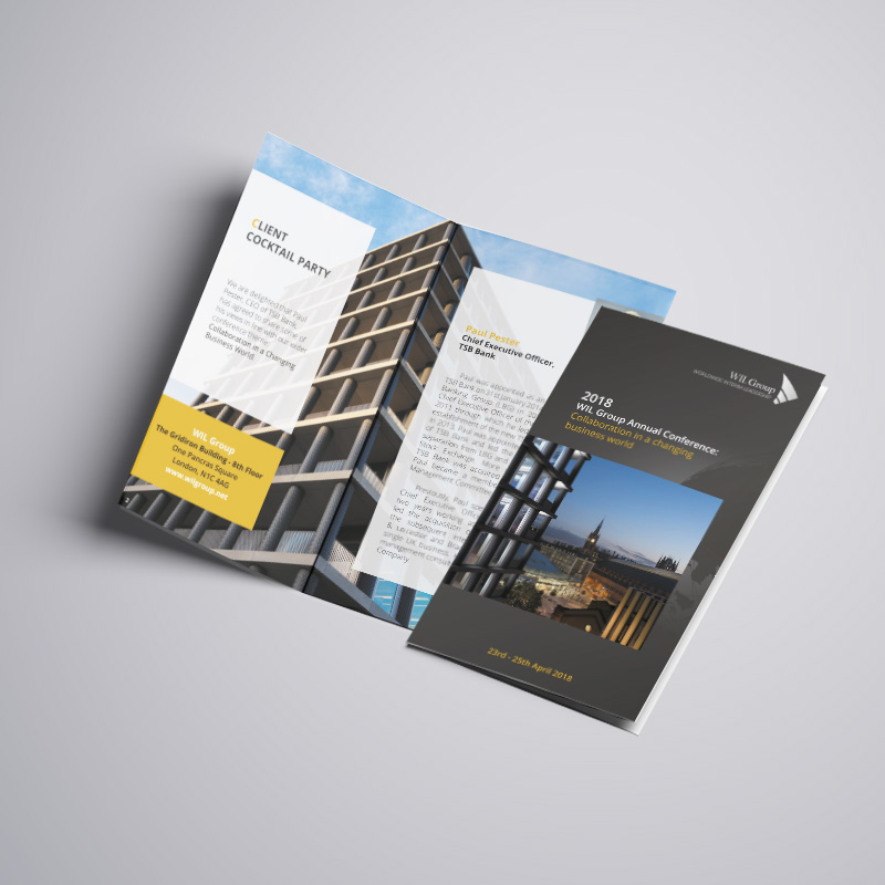 Création brochure WIL GROUP - COWAGENCY